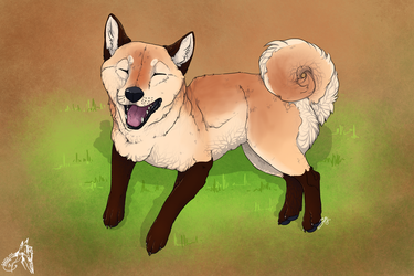 Happy Shib by EmeraldandBronze