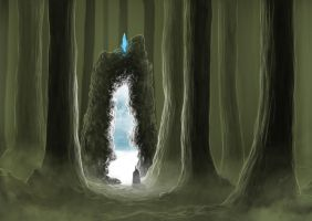Portal in the forest by bouilloud60