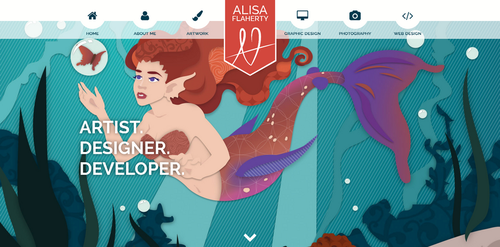 Alisa Flaherty Portfolio Website - 11.6.2016 by ticklishoctopus
