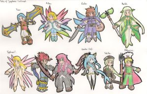 Tales of Symphonia Characters2 by Dan-ja-man