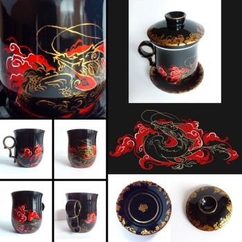 Dragon mug by Tervola