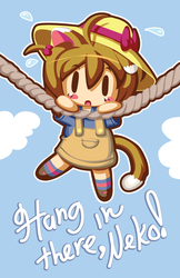Hang In There Neko by mandichan