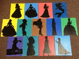 Disney Princess Silhouettes by jesspotter