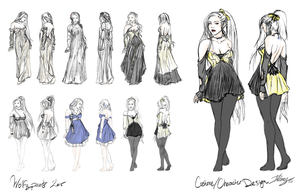 Dress/Character Worksheet by Wolfypaints