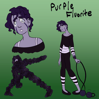 Gem OC: Purple Fluorite by Sigma-the-Enigma