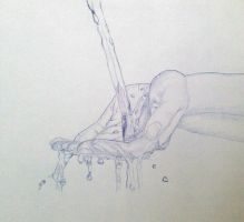 Hands and water by valakh