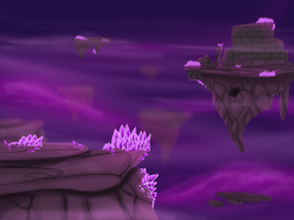 Purple Landscape by Anais-thunder-pen