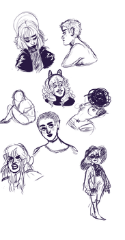 sketches by TheBeeInYourBonnet
