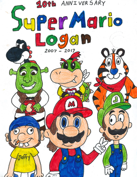 SuperMarioLogan 10th Anniversary by TheFieryHawk