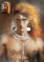 Apache Indian Red Horse by Shasmy