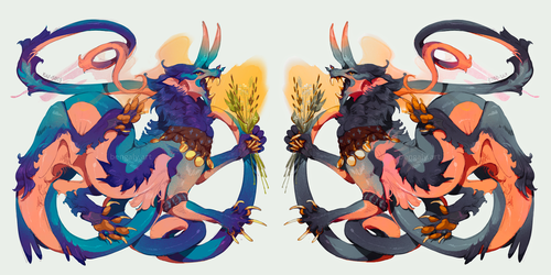 [Adopt] Incense Dragon by 5019