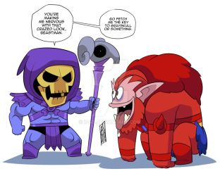Skeletor And Beastman: Go Fetch! by iq40