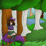 The calmness in the woods. by Bonnieart04
