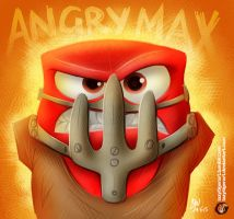 Angry Max by lazytigerart