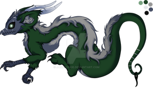 OPEN green/silver Lokidragon character adoptable by JanaCookie