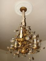 Gold Crystal Chandelier by FantasyStock