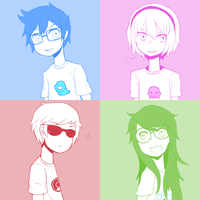 Homestuck Kids by Rolling-Mozaik