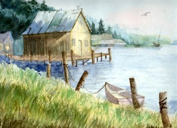 Lakeside Cottage by reizvolle-augen