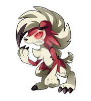 Midnight Lycanroc by mako--eyes