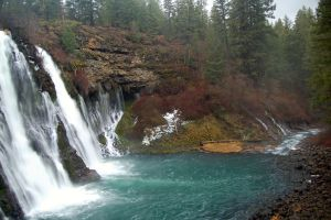 Burney Falls at California by esee