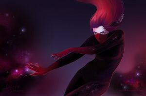 Space Art of Darkness by Alycha