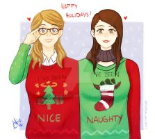 Ugly Christmas Sweater .Supercorp by sexyfairy