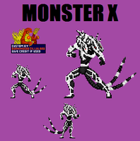 Monster X Custom Sprite by Burninggodzillalord