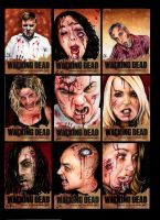 Walking Dead Sketchcards A by AstroVisionary
