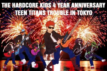 Teen Titans Trouble in Tokyo Review Title Card by Headbanger14