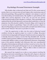Personal statement psychology and philosophy   Fresh Essays thevictorianparlor co