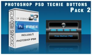 Techie Glass  Button PSD by DigitalPhenom