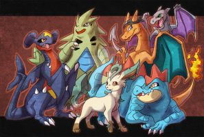 Riley Pokemon Team by Keshi-Commish