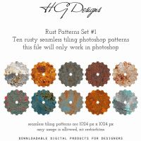 Rust Photoshop Patterns Set #1 by HGGraphicDesigns