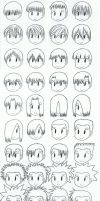 Manga Hairstyles Guide by zeckos