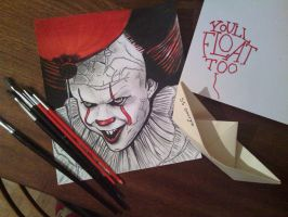 Pennywise the Dancing Clown by ChristineJana