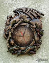 Ouroboros wall clock 01 by Ljotunnr