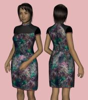 Qipao B for Genesis 3 Female by amyaimei