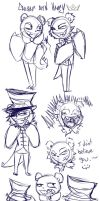 Amusement Park Sketch Dump by OpalesquePrincess