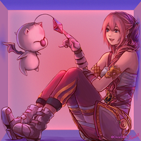 FF13-2 - Serah and Mog by Dice9633