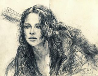 Katniss sketch by alicexz