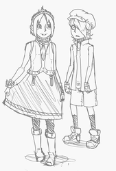 Alice and Maddie sketch by SethKyo