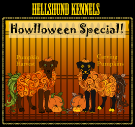 Howloween- Pumpkin Sheepdogs by 0okamiseishin
