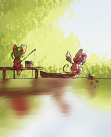 fishing by martha-chan