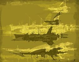Etherwind Ship Fleet by summeronfire