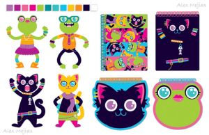 Pattern - Cats and Frogs by SaltyMoose