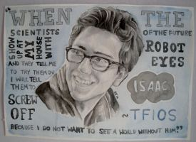 Isaac TFIOS Watercolour by Kat-Jones
