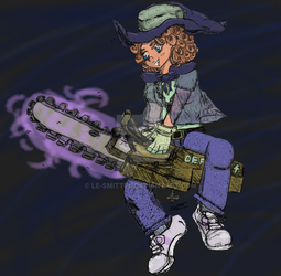 Chainsaw Witch Colored by Le-Smittee