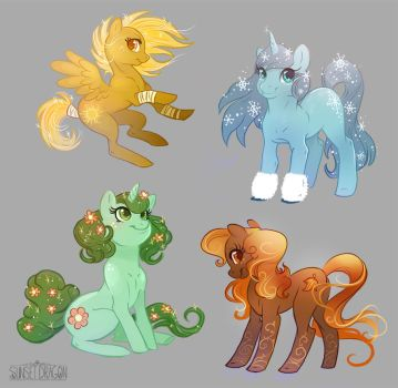 Season Adoptables MLP by Flying-Fox