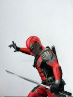 Color pencil DEADPOOL by Latchunga
