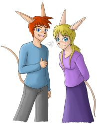 RKA - Andy and Sam - Sparkster and Axle's Parents by artisticTaurean